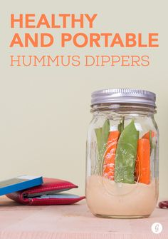 Healthy and Portable Hummus Dippers  #highprotein #snacks