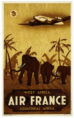 Air France: Afrique Occidentale Afrique Equatoriale - French West & Equatorial Africa, 1940s