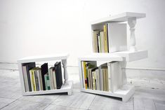 "Math and science are interconnected, but not in fashion or design. This was my general idea before seeing this. ""Four degrees"" is a bookshelf that uses math and gravity to keep your books in place. Although the shelf leans on a 4 degree angle with all the books in it your decision regarding buying one should be pretty much straight forward.{found on site}."