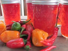 Eye-popping Hot Pepper Jelly! Low Carb