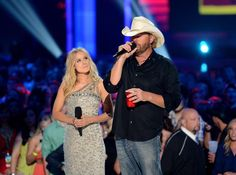 Actress Kristen Bell and Toby Keith host the 2012 CMT Music Awards in Nashville.