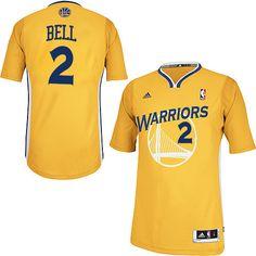 8dff6989d0a NBA Golden State Warriors Jordan Bell Swingman Jersey #2 Adidas Gold Men's  Alternate