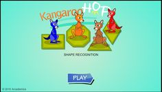 Play Kangaroo Hop at Math Playground! Power your kangaroo by recognizing shapes. How many shapes do you know? Geometry Games, Area And Perimeter, Math Games, Kangaroo, Shapes, Activities, Baby Bjorn
