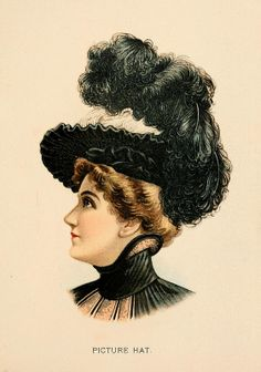 H. O'Neill & Co. Fine Millinery for Ladies, Misses & Children 1899-1900, Picture Hat
