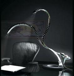 double snakelike lamp