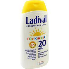 LADIVAL Kinder Sonnenmilch LSF 20:   Packungsinhalt: 200 ml Milch PZN: 03374600 Hersteller: STADA GmbH Preis: 11,64 EUR inkl. 19 % MwSt.…