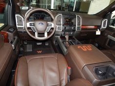Interior view of the 2015 Ford F150 King Ranch SuperCrew 4X4. #FordKingRanch