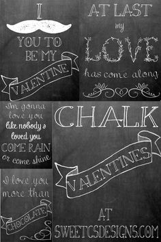 #Free chalkboard printables for #Valetine's Day :) @Courtney O'Dell