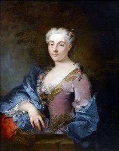 Robert Tournières (1667-1752): Portrait of a lady. 18th century.