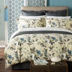 Christy Duck Egg 'Orchid' bed linen- at Debenhams Mobile