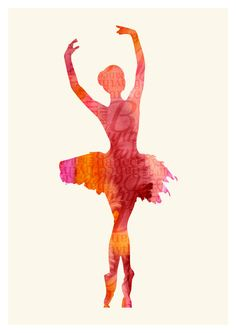 Ballerina Giclee Art Print Dancer Wall Poster by WatercolorMood