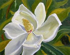 Ode to Katrina - magnolia blossom flower oil painting - The ...