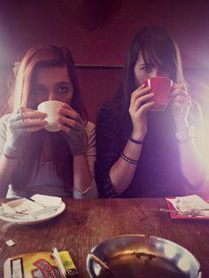 #girl #coffe #winter #tea #gloves #girls