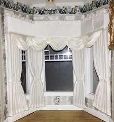 My Handcrafted Dollhouse Miniature Drapes, Curtains and Valances - Wootens Miniatures