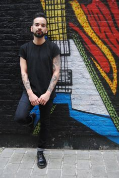 Henry from the Dr. Martens Antwerp store wearing 1461s