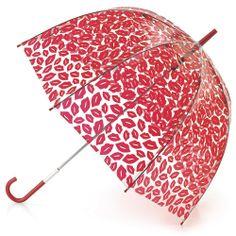LULU GUINNESS BIRDCAGE- 2 red lips - www.fultonumbrellas.com