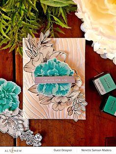 Build-A-Flower: Camellia Japonica & Ink Bundle — Altenew Scrapbook Blog, Scrapbooking, Leaf Stencil, Wink Of Stella, Tropical Forest, Altenew, Flower Images, Camellia, Hello Everyone