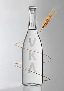 VKA bottle of organic Vodka from Wikipedia www.vka.it