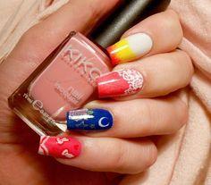 Sailor Chibimoon inspired nail art