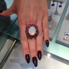 Vampy Almond Nails