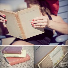 beach engagement session -vintage book *inspiration*