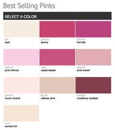 Best selling & popular shades of pink paint colors from Benjamin Moore.