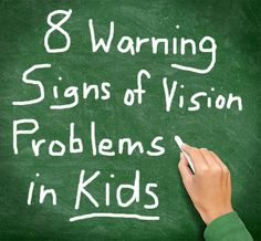The majority of what we learn comes through vision. Make sure your kids have eye exams before starting school! Slideshow: 8 Warning Signs of Vision Problems in Kids