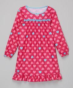 Look what I found on #zulily! Candlesticks Pink & Blue Hearts Gown - Toddler & Girls by Candlesticks #zulilyfinds
