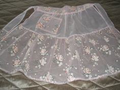 1950's Pink Chiffon Apron and Velveteen Apron by ThatRetroShop, $32.50