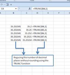 Learn Microsoft Excel: TRUNC Function: Truncate Numbers in Excel
