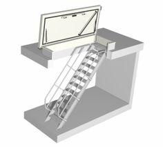 Een dakluik met vaste trap biedt een comfortabele daktoetreding welke uitermate geschikt is voor regelmatige betreding van het dak.