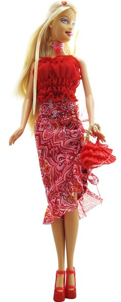 My favorite Valentine's Day Barbie, I think from 2002?