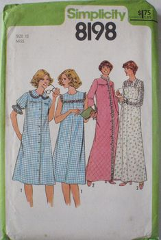 Women's Nightgown and Robe Sewing Pattern  by Shelleyville on Etsy