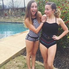 Brooklyn and Bailey in swimsuits by Rad Swim