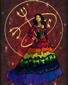 Pombagira Cigana Sete Saias - Vudu Tarot Project      A primeira flor,   Dona Sete Saias,   É oferecida à Tua   Gargalhada,   Que esco...