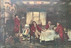 Star Wars Red Droid Parody Print or Poster Funny Pop Star Wars Art, Star Trek, Old Paintings, Star Wars Characters, Geek Art, White Elephant Gifts, Altered Art, Thrifting, Pop Culture