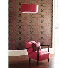 Buy Harlequin Wallpaper, Contour 60643, Pink / Chocolate Online at johnlewis.com