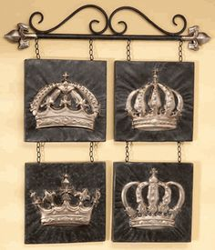 His And Hers Crown Wall Decor his and hers royal crowns from kirkland's. give yourself the royal