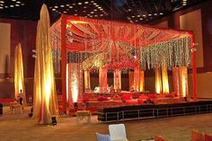 indian Mandap, indian wedding, fabric draping and lights  #indianwedding, #shaadibazaar