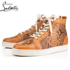 1a9de9df9f1d Cheap Christian Louboutin Shoes Men Sneakers Fleuri Brown Wholesale