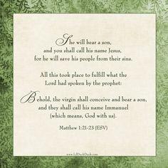 Matt. 1:21-23