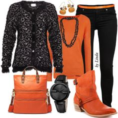 """Happy Halloween Fall Outfit"" by lindakol on Polyvore"