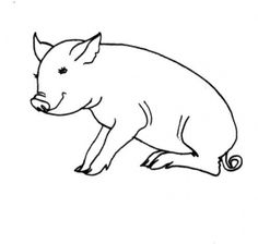 Free Printable Pig Coloring Pages For Kids pig images
