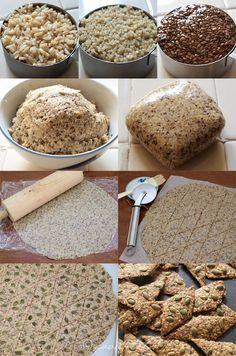 Gluten Free Brown Rice, Quinoa and Seeds Crackers - Totally want to make some of these things!!!