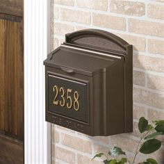 Shop for Whitehall Wall Mounted Locking Mailbox (French Bronze) - x x Get free delivery On EVERYTHING* Overstock - Your Online Home Improvement Shop! Wall Mount Mailbox, Mounted Mailbox, Outdoor Shower Kits, Security Mailbox, Pool Shower, Architectural Mailboxes, Tile Stairs, Whitehall Products, Shelving Design