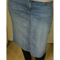 Jean Skirt 98% Cotton, 2% spandex Skirts