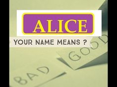 🆕 Know Anyone By their Name  - ALICE - Name Meaning-First Name ★҉Know Anyone By their Name  ★҉ Neimology Science ® is the study of the placement of letters in a name, that shows us how to find the patterns that will reveal natural tendencies in a person character, thinking, feeling,learning style and so much more.
