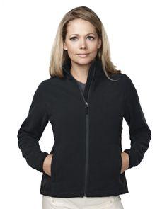 Women's Knit Fleece Jacket (100% Polyester).  Tri mountain 7632 #black #Trimountain #greatoffer