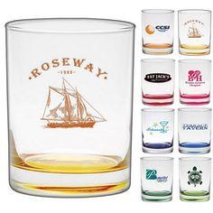 #advertising #weddingproducts Promotional 14 oz. Custom Glow Double Old Fashion Glass   Customized Bar Glassware   Promotional Bar Glassware