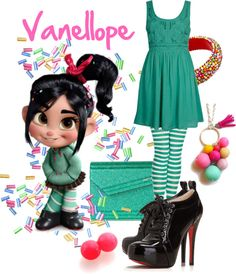 """""""Vanellope"""" by pam-kyle-mcglaughlin on Polyvore"""